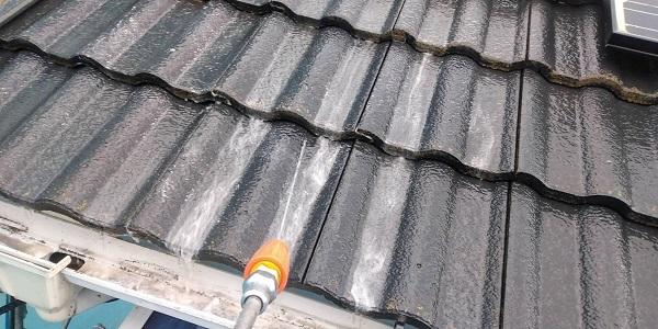 群馬県北群馬郡吉岡町 T様邸 屋根塗装・外壁塗装 下地処理 高圧洗浄 (3)