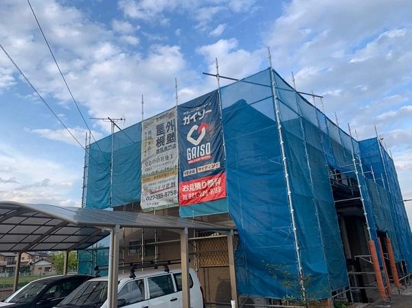 群馬県前橋市 H様邸 外壁塗装・付帯部塗装 仮設足場 単管足場、クサビ足場とは (1)