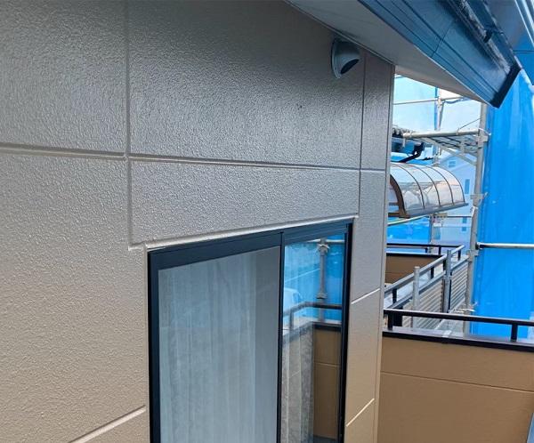 群馬県前橋市 K様邸 外壁塗装・防水工事 外壁中塗り・上塗り (6)