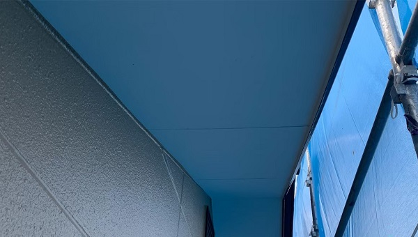 群馬県前橋市 K様邸 外壁塗装・防水工事 付帯部 軒天塗装 低臭ジョンキングNAD (3)