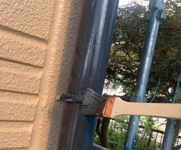 群馬県前橋市 K様邸 外壁塗装・防水工事 雨樋の塗装 竪樋・軒樋とは (3)