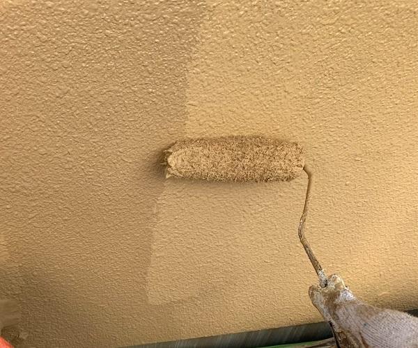 群馬県前橋市 K様邸 外壁塗装・防水工事 外壁中塗り・上塗り (1)